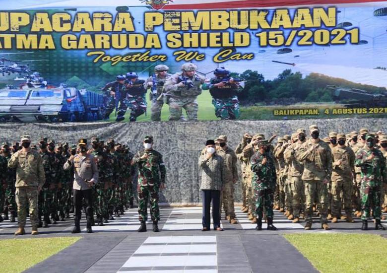 Hadiri Pembukaan Latihan Bersama Garuda Shield 15/2021, Isran: Bisa Membangun Hubungan Bilateral